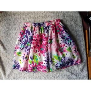 Childrens Place Floral Skirt Girls Large